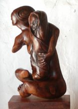 Mother and ChildOlive Wood heigth: 60 cm width: 20 cm depht: 30 cm